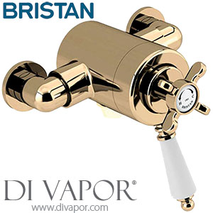 Bristan 1901 Vintage Gold Dual Control Shower Valve (Bottom Outlet)