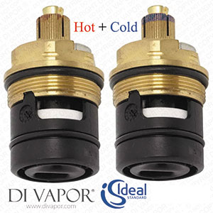 Ideal Standard S8739NU Pair of Hot and Cold Flow Cartridges (On/Off Cartridge)
