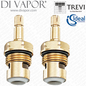 S960025NU Pack of 2 Ideal Standard / Trevi 1/2 Inch Ceramic Disc Flow Cartridge (On/Off)