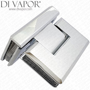 90 Degree Glass to Glass Shower Door Hinge | Chrome Plated Solid Copper | Tapered Edges