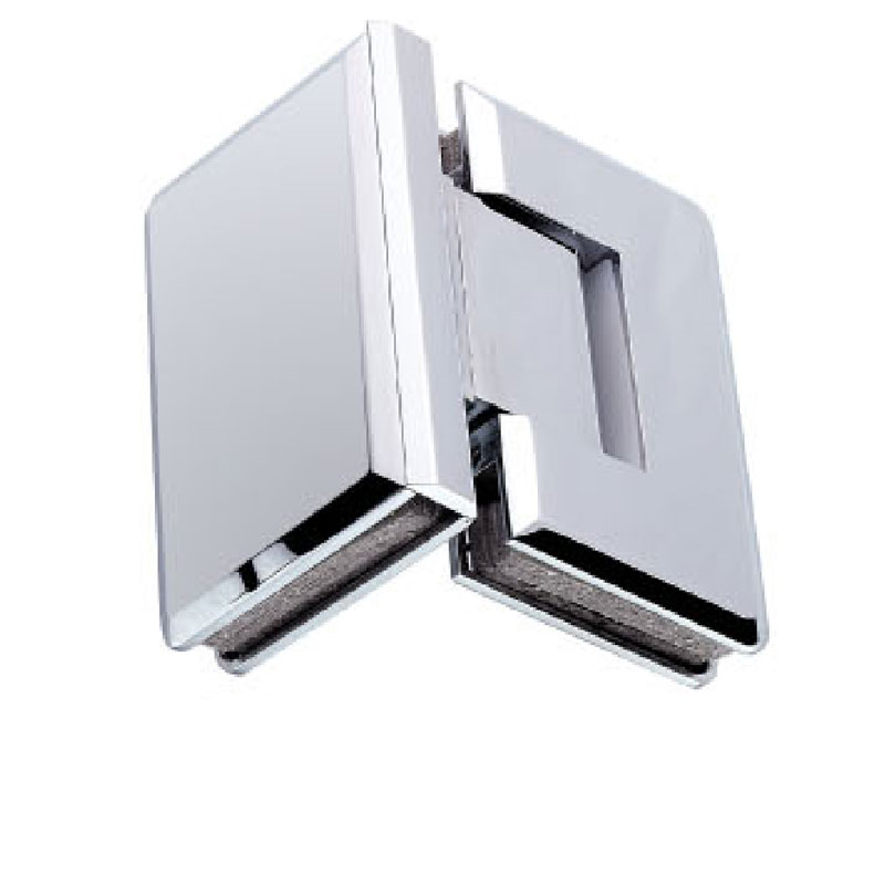 90 degree glass to glass shower door hinge chrome plated for Solid glass shower doors