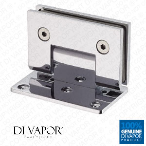 90 Degree Wall Mounted Shower Door Glass Hinge | Single Sided | Chrome Plated Copper | Square Edges