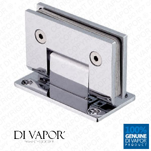 90 Degree Wall Mounted Shower Door Glass Hinge | Double Sided | Chrome Plated Stainless Steel | Square Edges