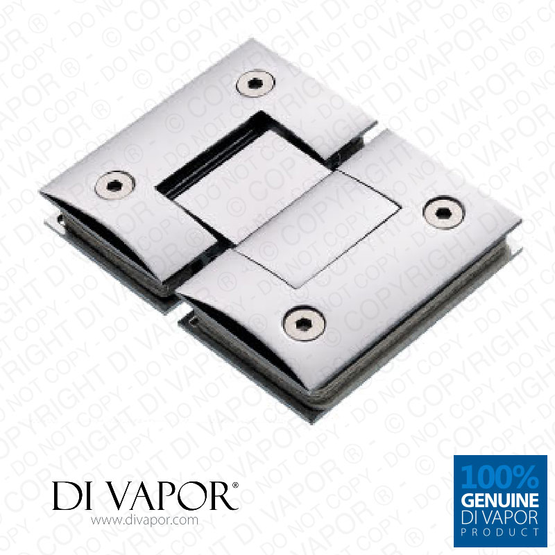 180 Degree Glass To Glass Shower Door Hinge Chrome Plated Solid Copper Sq