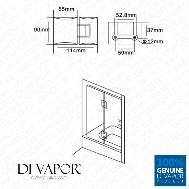 180 degree glass to glass shower door hinge chrome for Solid glass shower doors