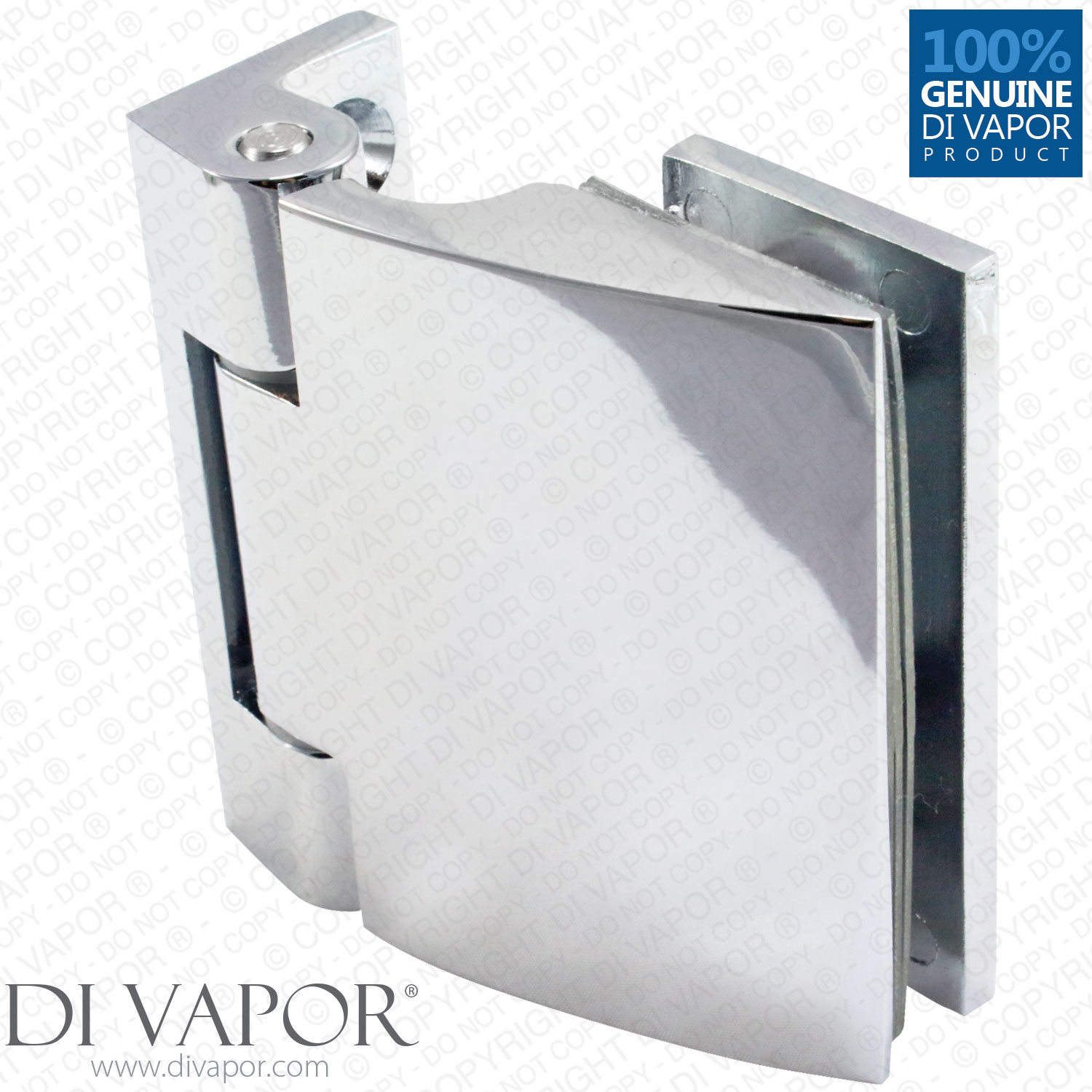 180 Degree Wall Mounted Shower Door Glass Hinge | Chrome Plated ...