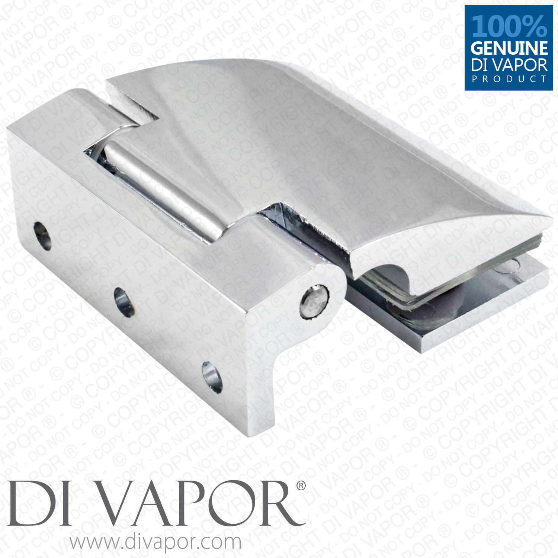 Di Vapor R 180 Degree Wall Mounted Shower Door Glass