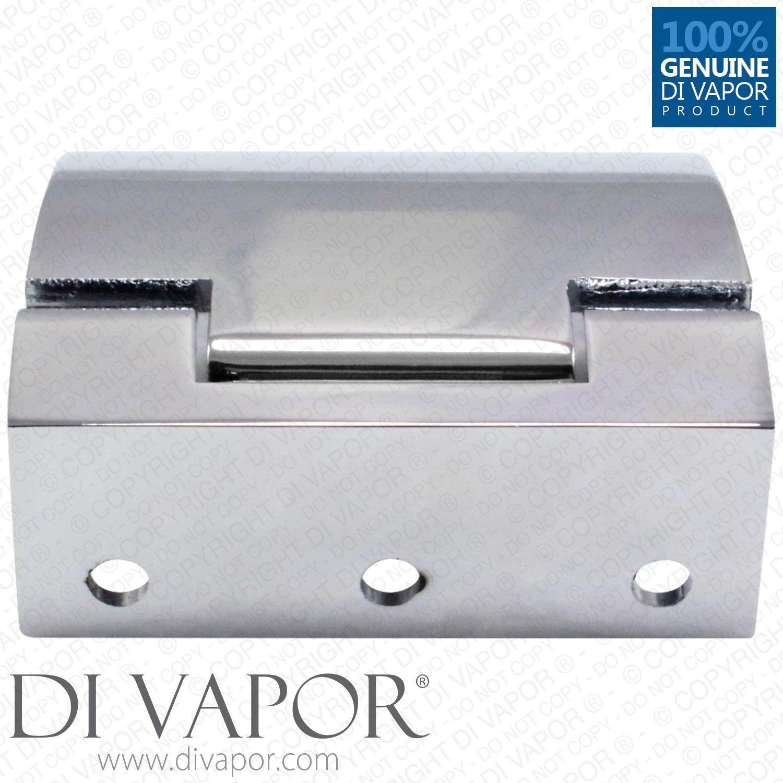 Di vapor r 180 degree wall mounted shower door glass for 180 degree glass door hinge