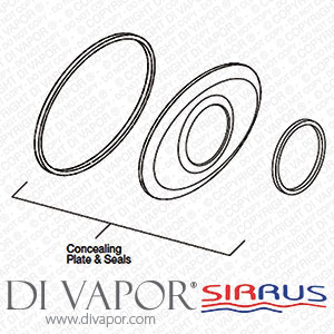 Sirrus SKTS1501-5CP TS1500/1503 Oval Concealing Plate