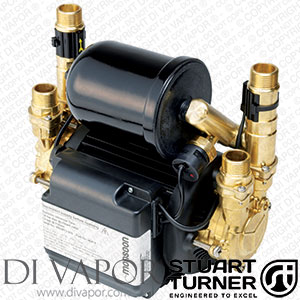 Stuart Turner 46410 Monsoon Universal 3.0 Bar Twin Water Pump for Showers, Bathrooms, Houses and Apartments