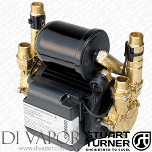 Stuart Turner 46411 Monsoon Universal 4.0 bar Twin Water Pump for Showers, Bathrooms, Houses and Apartments