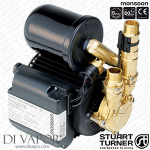 Stuart Turner 46413 Monsoon Universal 3.0 Bar Single Pump for Showers, Bathrooms, Houses and Apartments