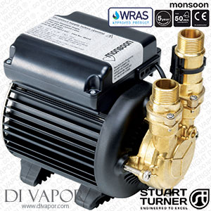Stuart Turner 46420 Monsoon Standard 4.5 Bar Single Water Pump for Showers, Bathrooms, Houses and Apartments