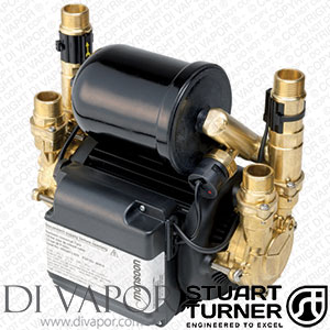Stuart Turner 46480 Monsoon Universal 2.0 Bar Twin Water Pump for Showers, Bathrooms, Houses and Apartments