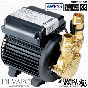 Stuart Turner 46497 Monsoon Standard 2.0 Bar Single Water Pump for Showers, Bathrooms, Houses and Apartments