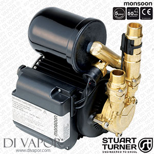 Stuart Turner 46498 Monsoon Universal 2.0 Bar Single Water Pump for Showers, Bathrooms, Houses and Apartments
