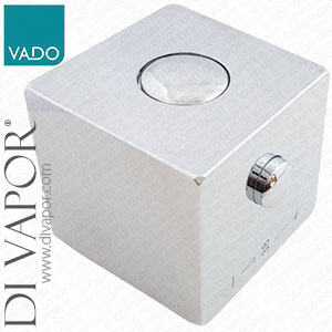 Vado TE-1/TEMP-C-C/P Chrome Square Temperature Control Handle | For 9.6mm / 24 Spline Spindle Heads