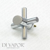 Temperature Control Handle for 20 Tooth Shower Valve Cartridges