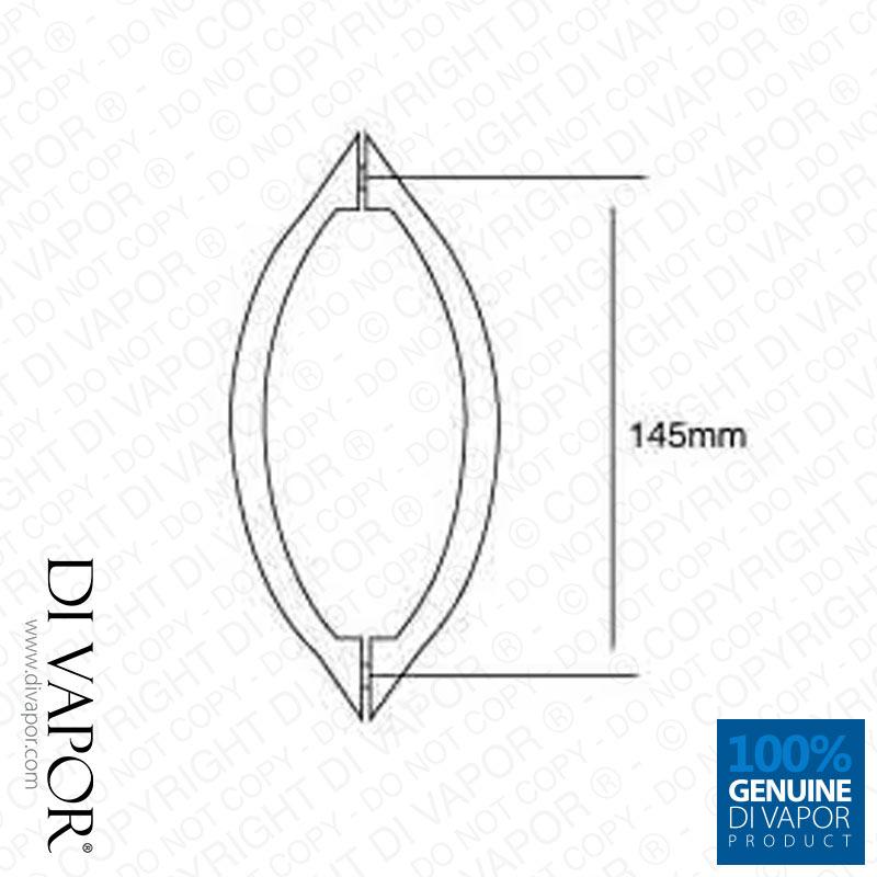 145mm Shower Door Handle For Betterbathrooms Deante