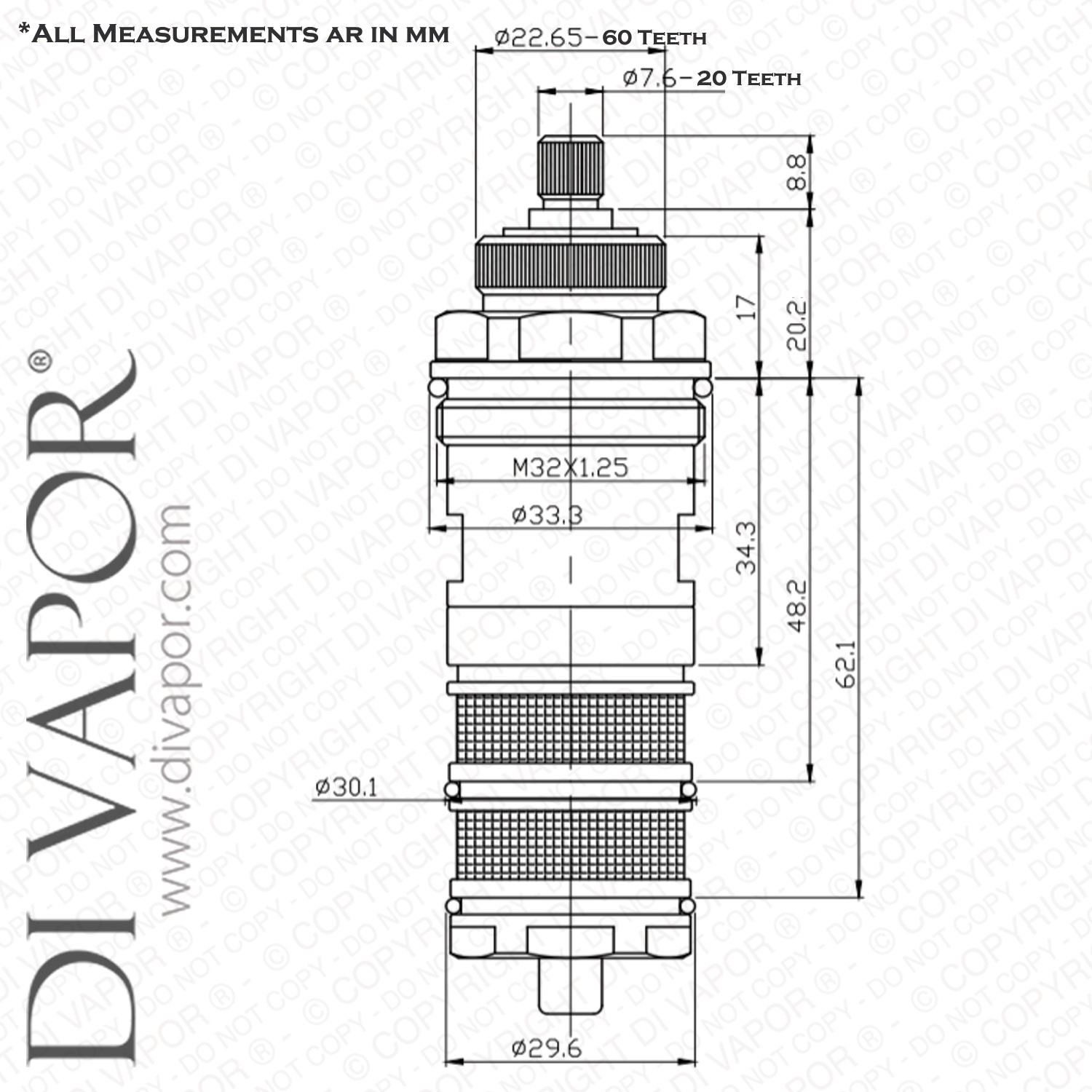 Thermostatic Shower Valve Cartridge Replacement Screw Fit Diagram