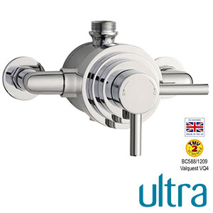 ULTRA JTY026 Minimalist Lever Dual Exposed Thermostatic Shower Valve (Hudson Reed)