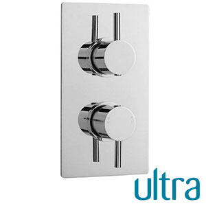 ULTRA QUEV52 Quest Rectangular Twin Shower with Built in Diverter (Hudson Reed)