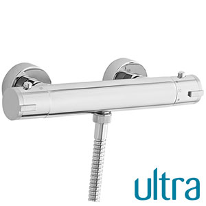 ULTRA VBS009 Minimalist Thermostatic Shower Bar with Bottom Outlet (Hudson Reed)