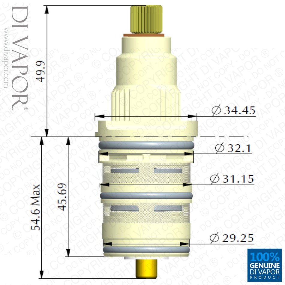 Thermostatic Cartridge For Danze Da507874 Shower Valve