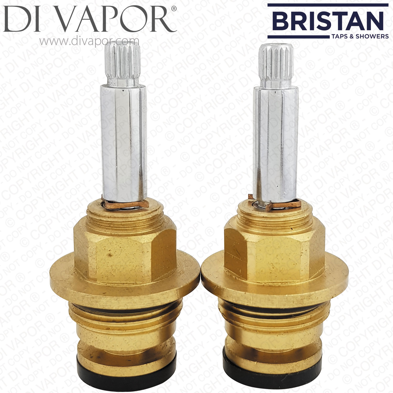 "Bristan 3//4/"" flow cartridge pair chrome VLV XB079BD000O"