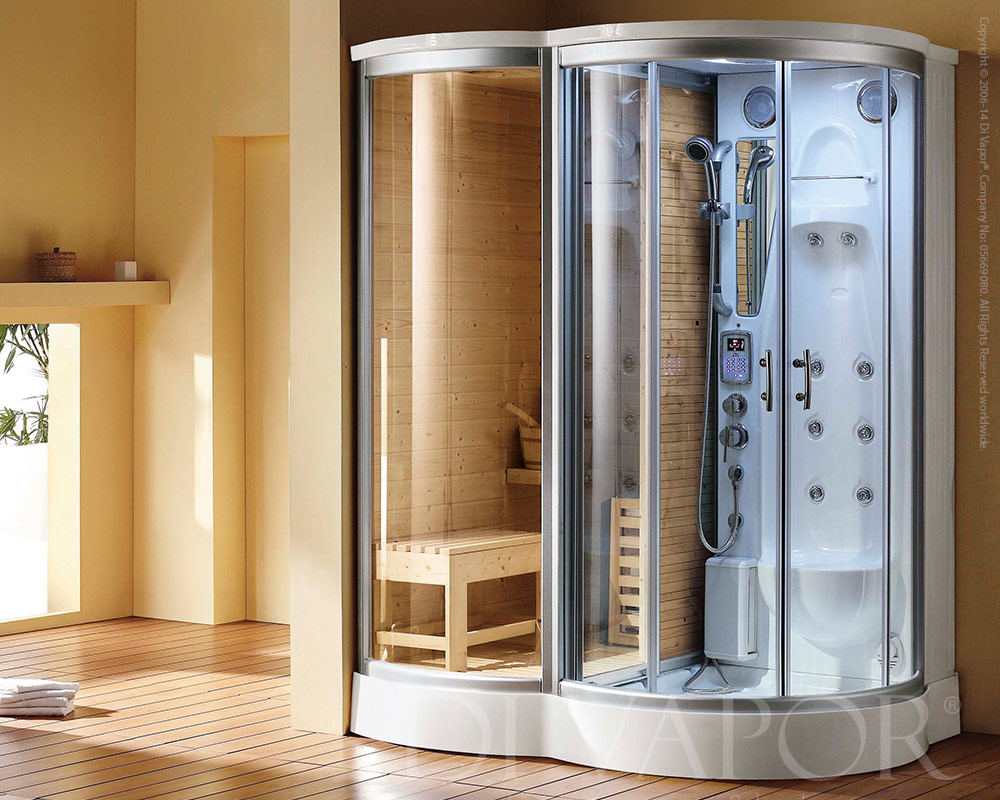 Sauna shower steam room combination