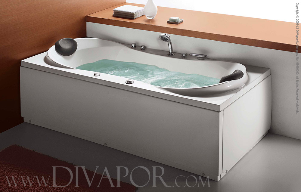 Corner Whirlpool Bath - The Varda