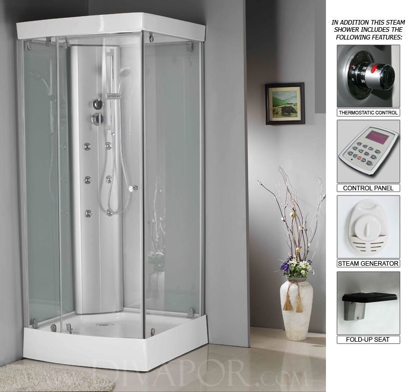 Venetian 900mm Steam Shower Cabin