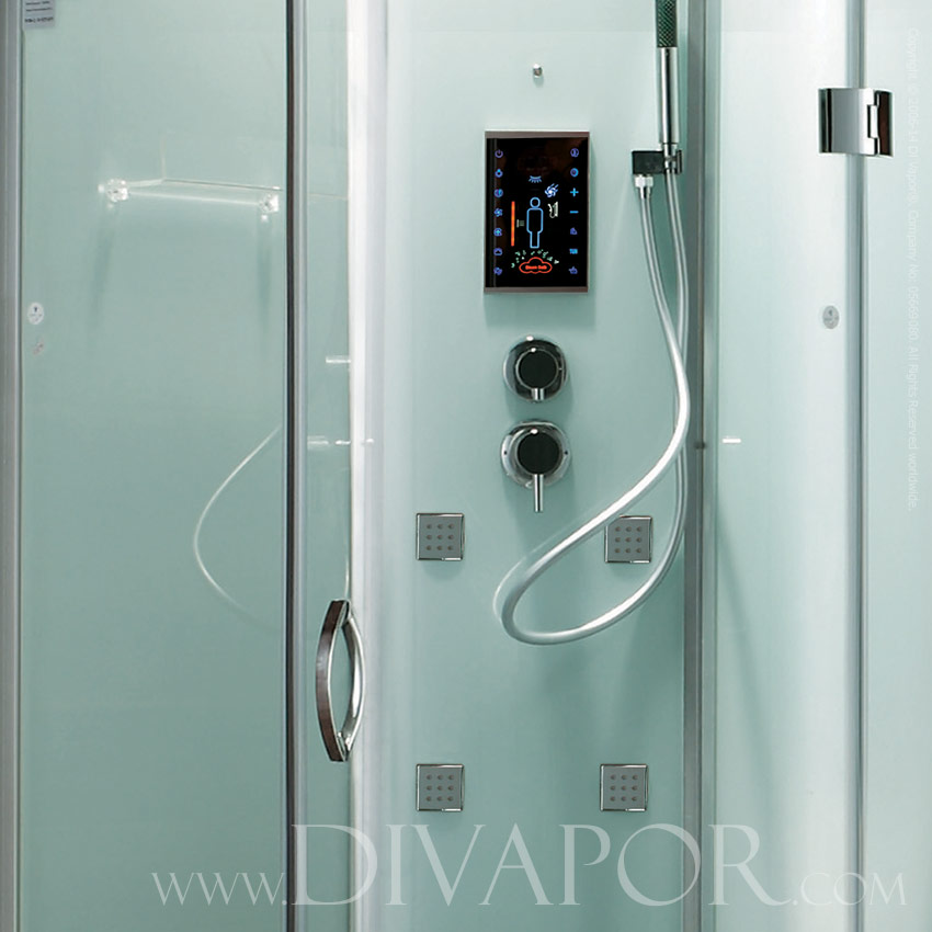 Verona White Glass Steam Shower Enclosure